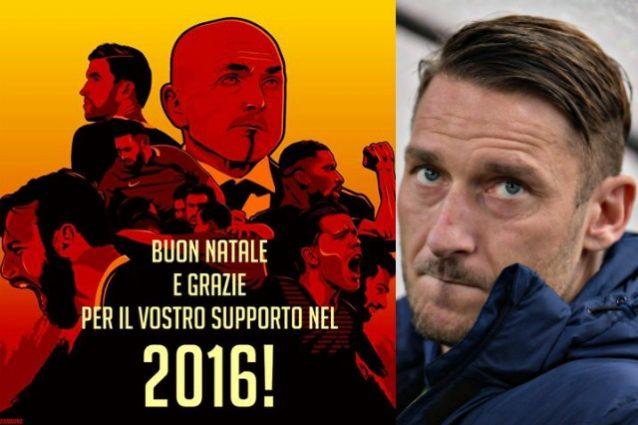 La Roma fa fuori Totti dagli auguri di Natale: polemiche sul web
