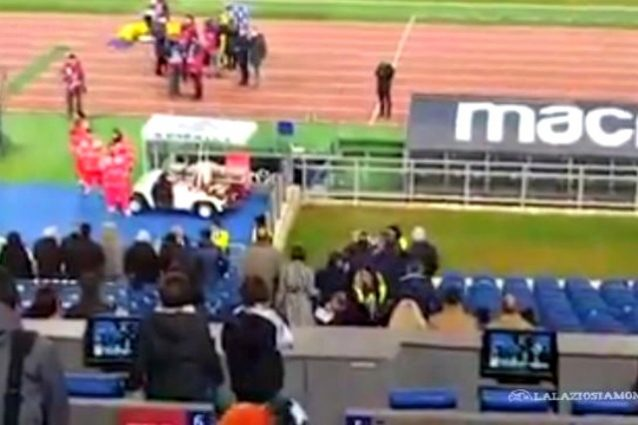 Lazio-Chievo, Biglia litiga con un tifoso
