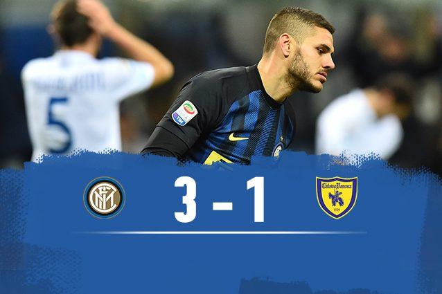 Inter-Chievo 3-1: quinto squillo di fila per i nerazzurri