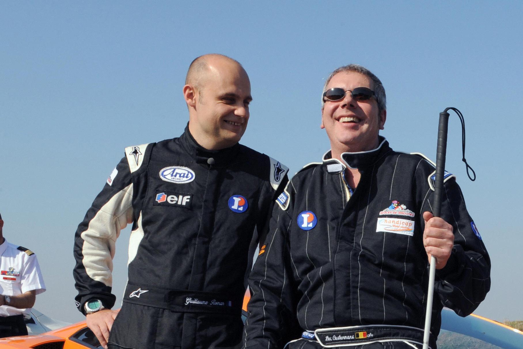 Luc Costermans, il pilota non vedente al Rally del Belgio
