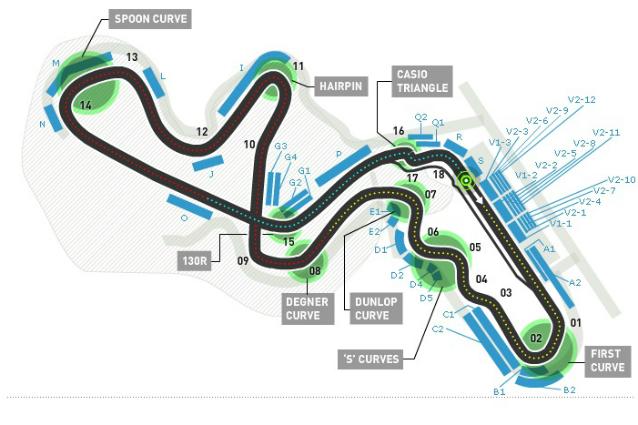 F1, GP Giappone: Suzuka, i segreti di un circuito unico