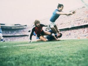 Paolo Rossi in azione con la Nazionale