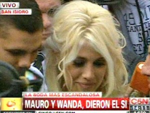 Mauro Icardi e Wanda Nara sposi a San Isidro (video)