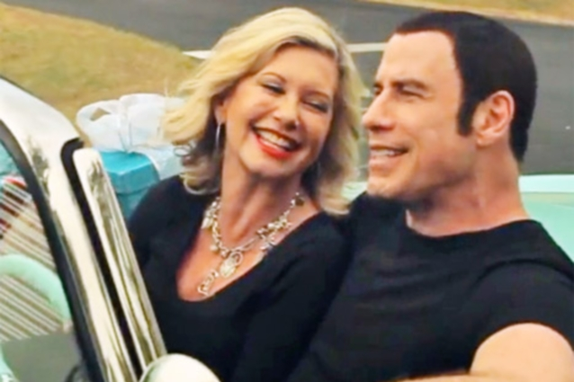 a movie analysis of grease starring john travolta and olivia newton john The movie told the story of good girl sandy (olivia newton-john) and bad boy greaser danny (john travolta) falling in love over the summer and how they managed to rekindle their romance while.