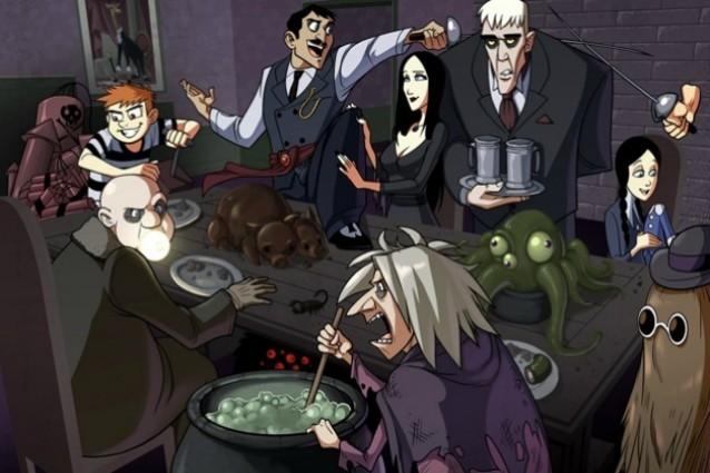 La famiglia addams ritorna e diventa un cartoon video