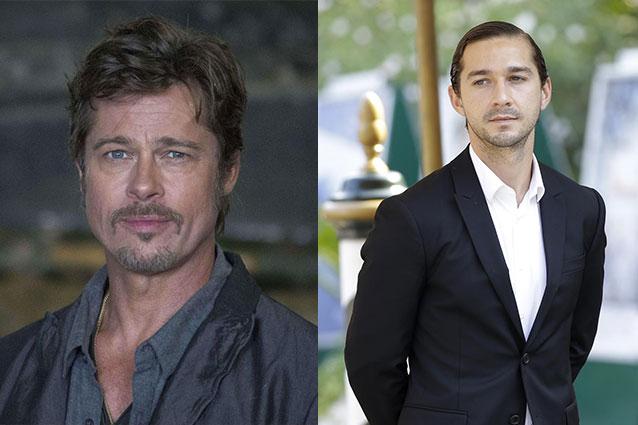"""In occasione della promozione di """"Fury"""" sul britannico GQ, Brad Pitt ha tessuto le lodi per Shia LaBeouf: """"È uno dei migliori attori che io abbia mai incontrato""""."""