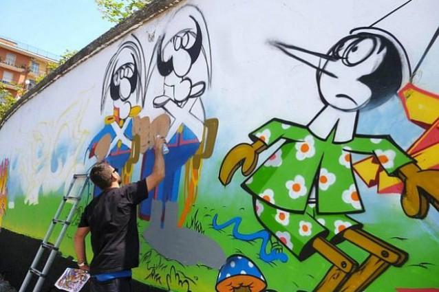 Il muro di Bagnoli, Napoli lotta con l'arte