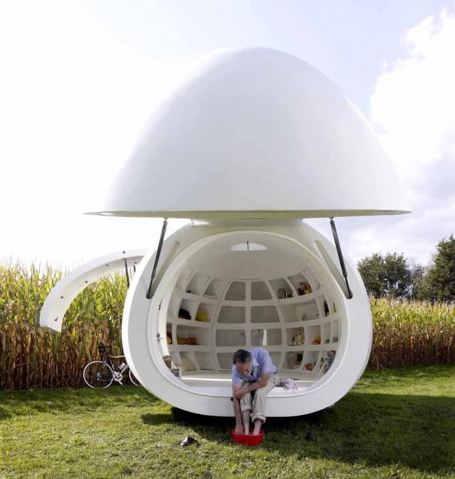 Blob vb3 la micro casa a forma di uovo un evocativo for Micro piano casa compatto