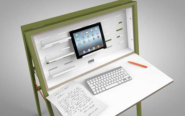 10 workstation creativi per uno spazio di lavoro pi for Scrivania richiudibile