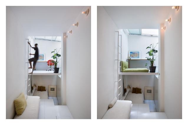 Vivere in 100 m3: a Madrid un rifugio urbano unico e accogliente