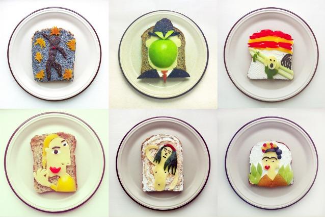Colazioni d 39 artista ecco le riproduzioni su toast dei for Riproduzioni design