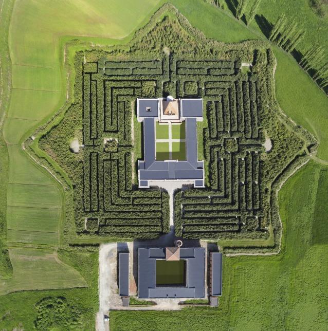 Veduta aerea del Labirinto della Masone (© Franco Maria Ricci/Foto Carlo Vannini)