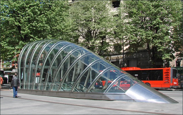 Abando metro station, Bilbao, by Foster