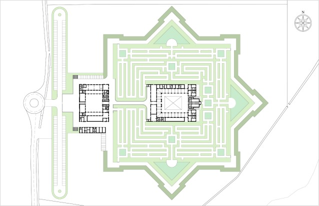 Pianta del Labirinto (© Franco Maria Ricci/Pier Carlo Bontempi)