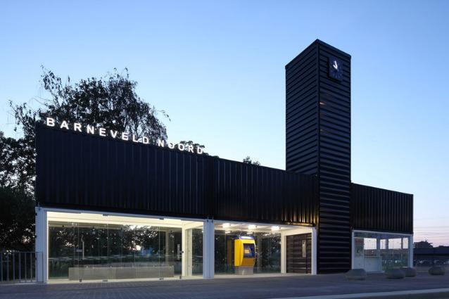 Barneveld noord station, photo by marcel van der burg. Image courtesy of NL architects