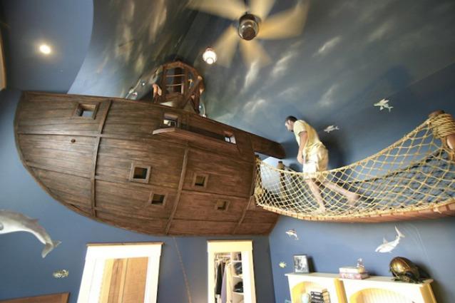 Una camera da letto per tutti quelli che sognano di vivere come pirati