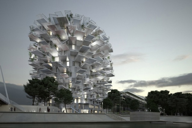 Vivere in un albero bianco a montpellier ecco l 39 ultima for Architettura giapponese