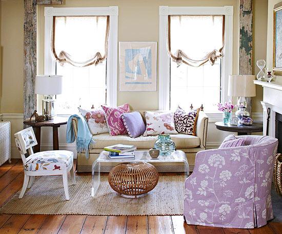 Arredare il soggiorno - Come mettere i cuscini sul letto ...