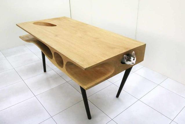 Tavoli Da Pranzo Strani.Catable Un Tavolo Per Gli Uomini Un Paradiso Per I Gatti