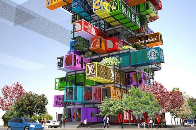 Hive inn il jenga hotel in cui ogni camera un container for Case architetti famosi
