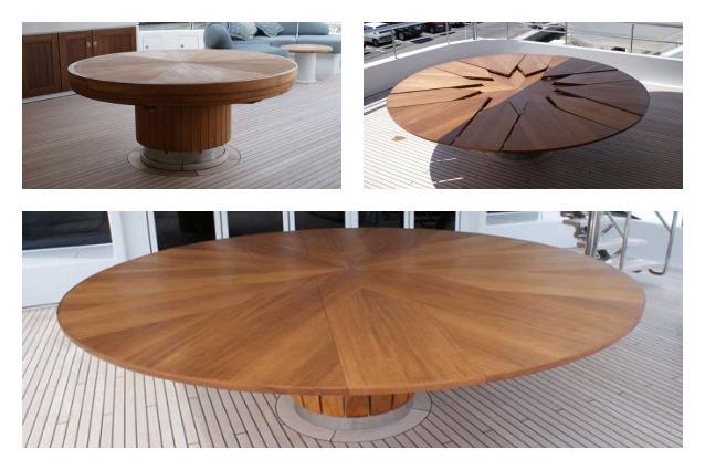 Fletcher capstan table il tavolo che si espande in soli 4 - Tavolo multimediale ...