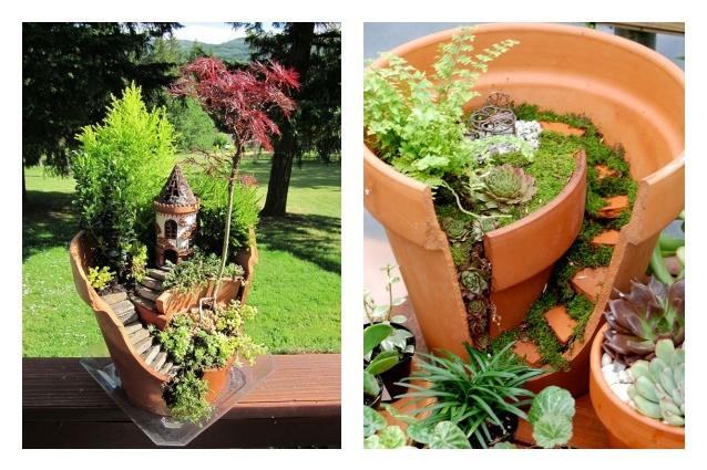 Come trasformare vasi rotti in oggetti utili e belli - Giardini decorati ...