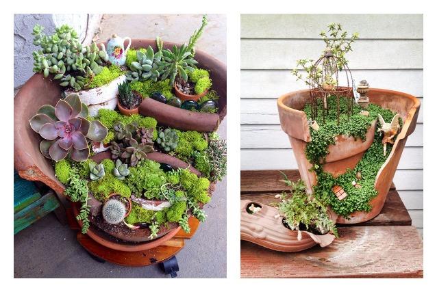 Come trasformare vasi rotti in oggetti utili e belli for Oggetti per abbellire il giardino