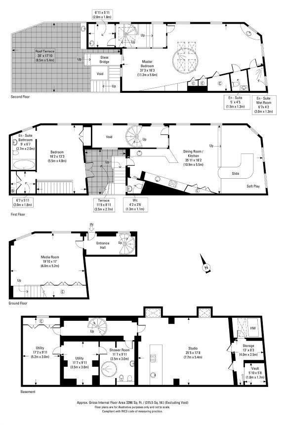 Rainbow house da abitazione tradizionale a casa dei for Design tradizionale casa georgiana