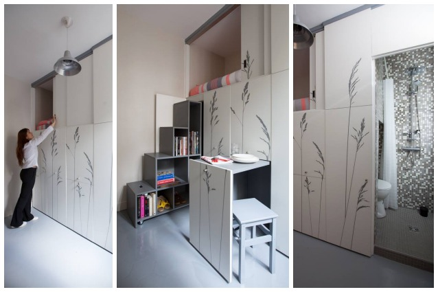 Parigi vivere in 8 metri quadri ma con tutti i comfort for Arredare pianerottolo scale