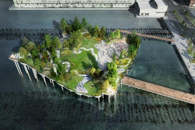 Pier 55: il nuovo parco galleggiante di New York
