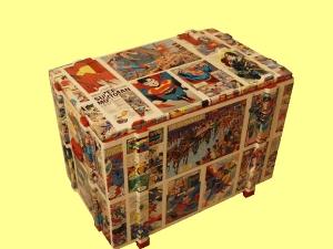 Decoupage contenitori a fumetti nella cameretta dei bambini - Mobili con decoupage ...