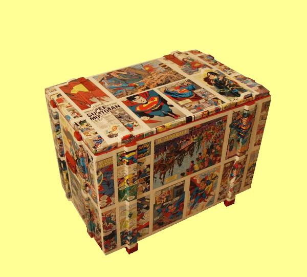 Decoupage, contenitori a fumetti nella cameretta dei bambini