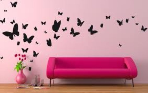 Come decorare le pareti con stickers murali consigli per for Disegni geometrici per pareti