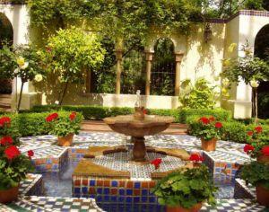 come realizzare un giardino mediterraneo consigli per disporre ... - Piccolo Giardino Con Fontana