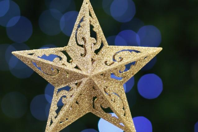 Addobbi dorati per il Natale 2011