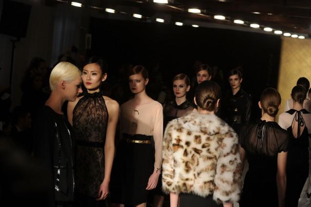 Paola Frani alla settimana della moda milanese
