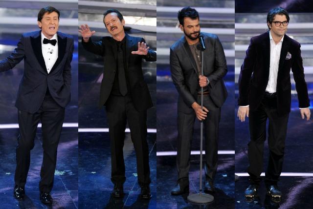 I look maschili di Sanremo 2012