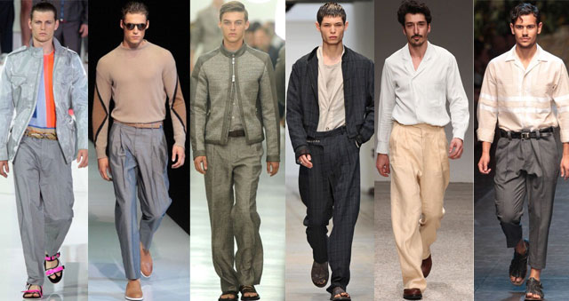 Pantaloni larghi per la PE 2013