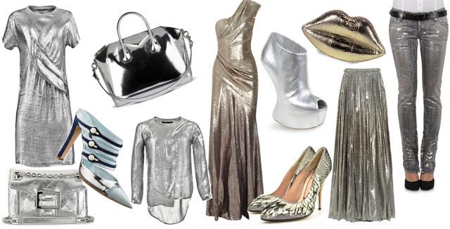 Abiti e accessori argentati primavera estate 2012