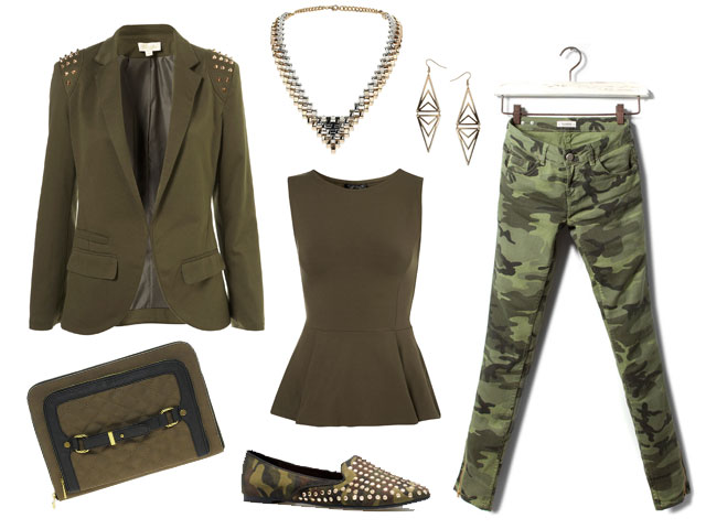 Look military chic low cost