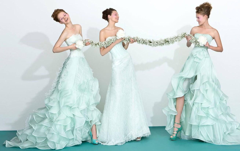 Abiti da sposa colorati tendenze originali per il matrimonio