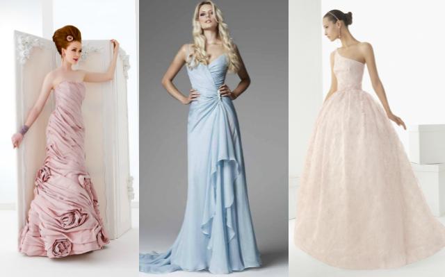 Abiti da sposa principeschi colorati