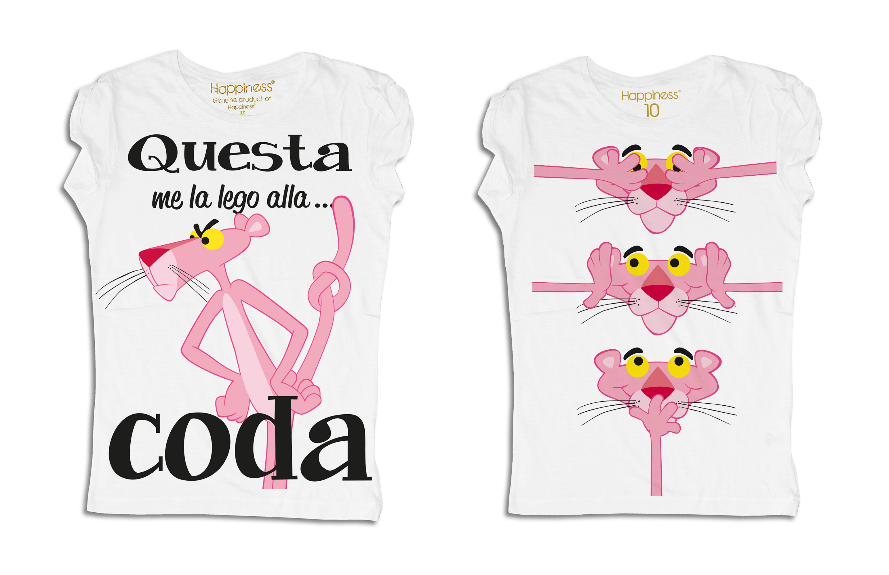 I anni della pantera rosa le t shirt per festeggiarla