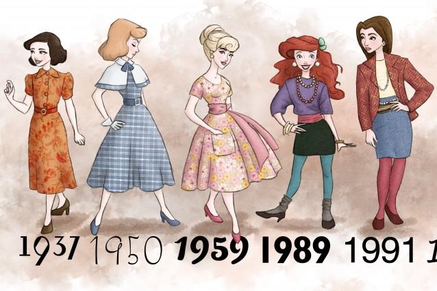 Lo stile delle principesse disney dagli anni 39 30 ad oggi for Accessori moda anni 50