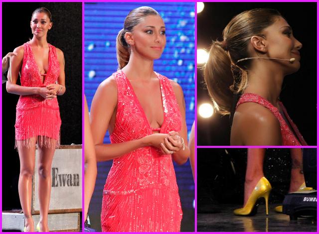 Vestito rosa di belen