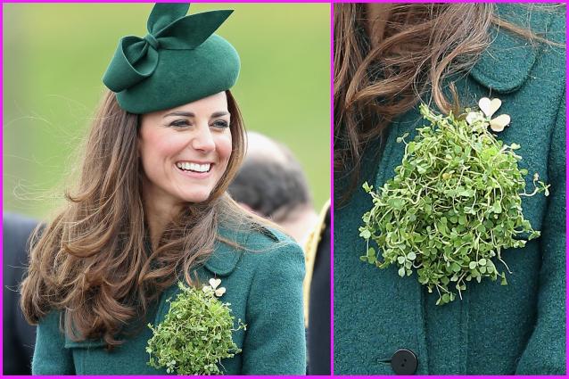 Kate middleton e il look trifoglio per la parata di san - San patrizio per i bambini ...