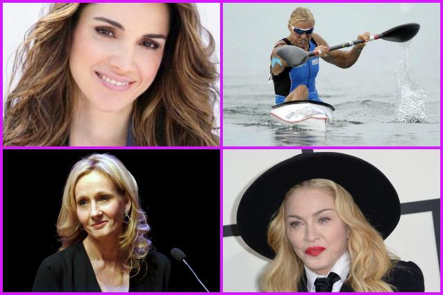 Madonna, Josefa Idem, Rania di Giordania, J.K. Rowling