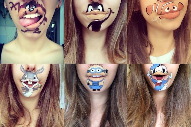 Cartoni animati sulle labbra la nuova tendenza spopola
