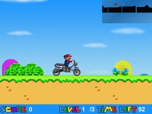 Super Mario bros. in moto