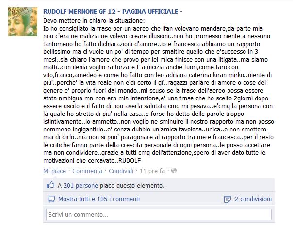 rudolf mernone su facebook